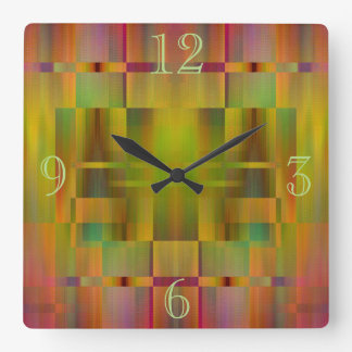 Abstract Patterned Design Clock