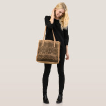 Abstract Patterns Elegant Black Tote