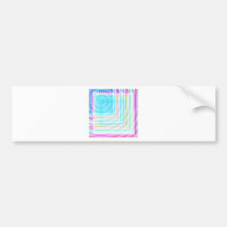 Abstract Patterns in Pink Blue White Bumper Stickers