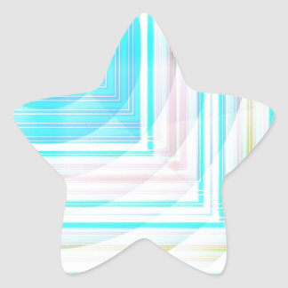 Abstract Patterns in Pink, Blue, White Star Sticker