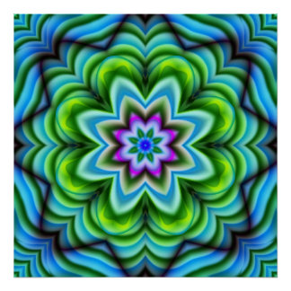 Abstract, Patterns, kaleidoscope Poster