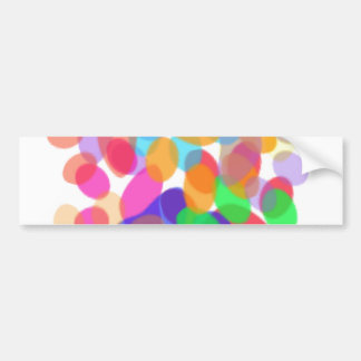 Abstract Paw Prints Bumper Sticker II