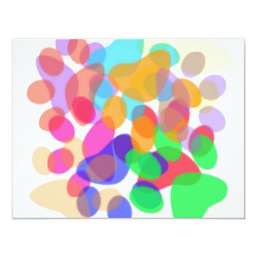 "Abstract Paw Prints Invitation 4.25"" X 5.5"" Invitation Card"
