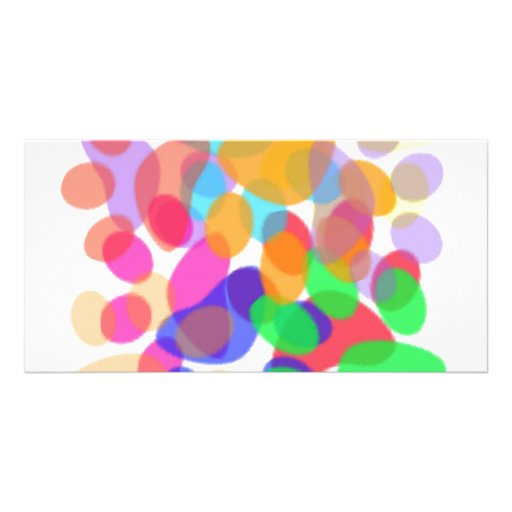 Abstract Paw Prints Photo Card