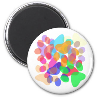 Abstract Paw Prints Round Magnet