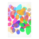 Abstract Paw Prints Stationery