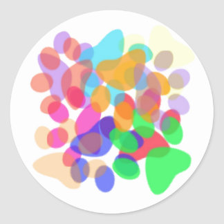 Abstract Paw Prints Sticker