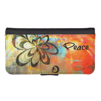 Abstract Peace iPhone 5 Wallet Case