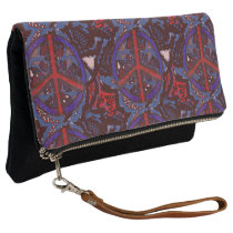 Abstract Peace Patterned Clutch