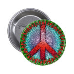 Abstract Peace Sign Pinback Button