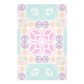 Abstract Peace Stationery