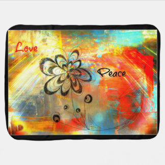 Abstract Peace Stroller Blanket