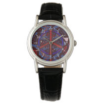 Abstract Peace Wrist Watch