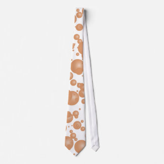 Abstract Peach Bubbles Tie
