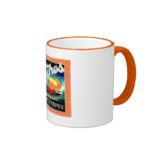 Abstract Peaches Coffee Mug