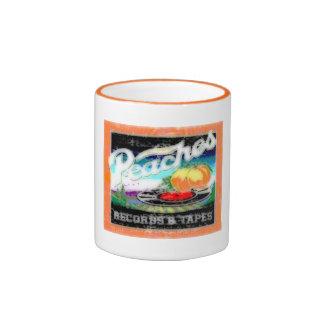 Abstract Peaches Ringer Coffee Mug