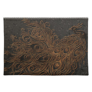 Abstract Peacock Bronze Cloth Placemat