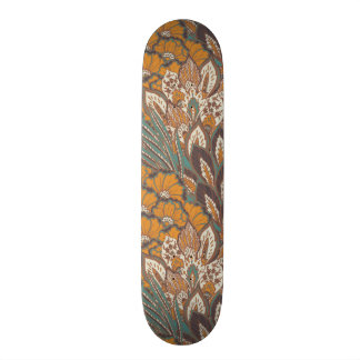 Abstract Peacock Feather Pattern Skateboard Deck