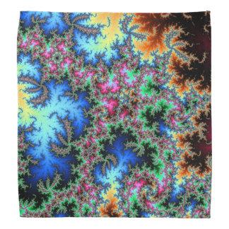 Abstract Peacock Feathers - colorful fractal art Bandana