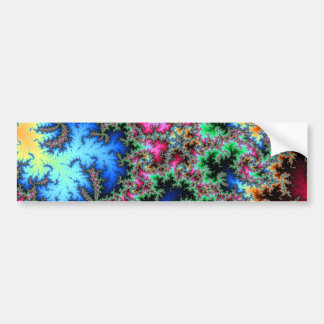 Abstract Peacock Feathers - colorful fractal art Bumper Sticker