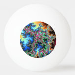 Abstract Peacock Feathers - colorful fractal art Ping-Pong Ball