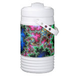 Abstract Peacock Feathers - colorful fractal art Igloo Beverage Cooler