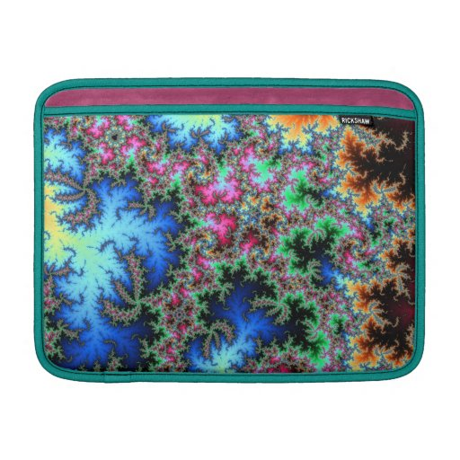 Abstract Peacock Feathers - colorful fractal art MacBook Air Sleeves