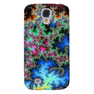Abstract Peacock Feathers - colorful fractal art Samsung Galaxy S4 Covers