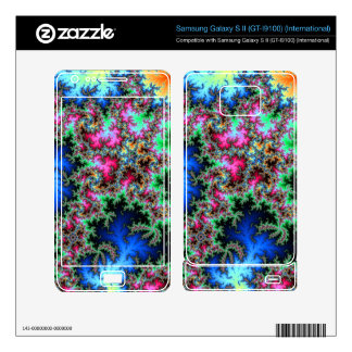 Abstract Peacock Feathers - colorful fractal art Samsung Galaxy S II Skin