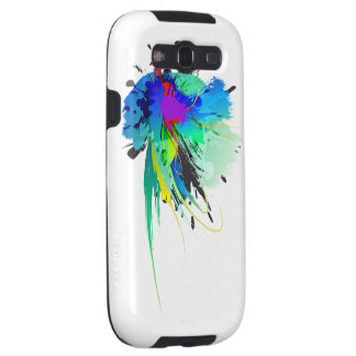Abstract Peacock Paint Splatters Samsung Galaxy SIII Cases