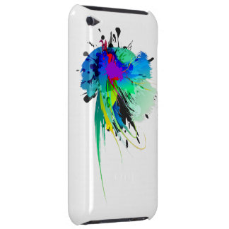 Abstract Peacock Paint Splatters Case-Mate iPod Touch Case