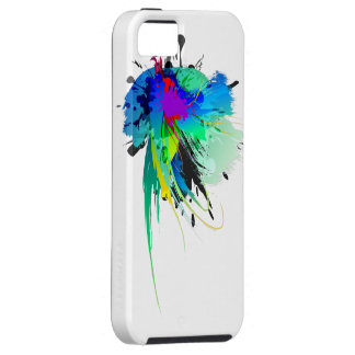 Abstract Peacock Paint Splatters iPhone SE/5/5s Case