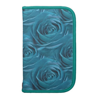 Abstract Peacock Rose Center Photograph Folio Planner