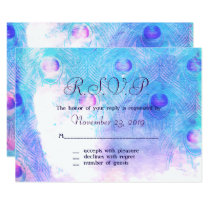 Abstract Peacock, Watercolor Response Cards