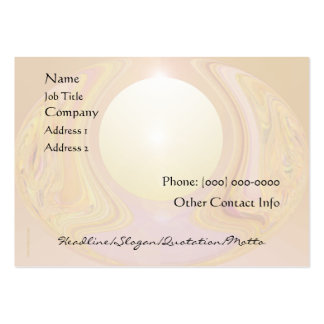 Abstract Pearl Light Business Card