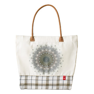 Abstract pearls and diamonds Zazzle HEART Tote Bag