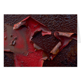 Abstract Peeling paint Card