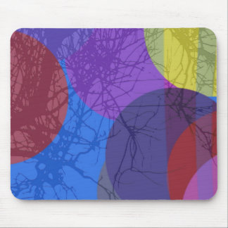 Abstract pellets and plant mouse pad