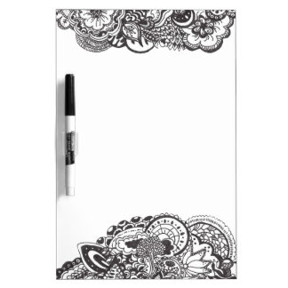 Abstract pen and ink doodle dry erase board