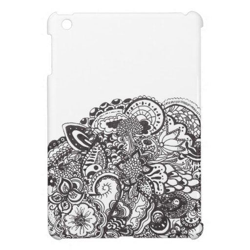 Abstract pen and ink doodle iPad mini cases