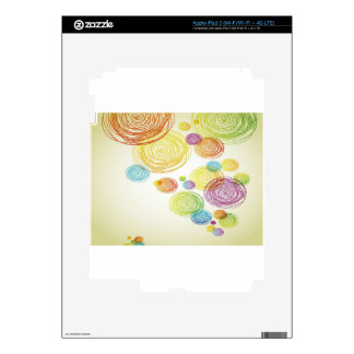 Abstract Pencil Scribble design iPad 3 Decal