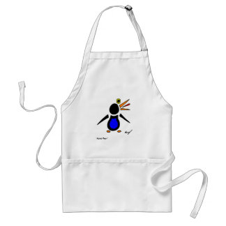 Abstract Penguin Apron