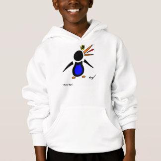 Abstract Penguin Kids Hooded Sweatshirt