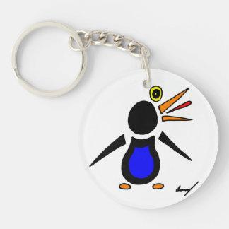 Abstract Penguin Round Acrylic Keychain
