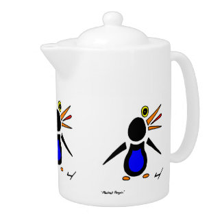Abstract Penguin Teapot