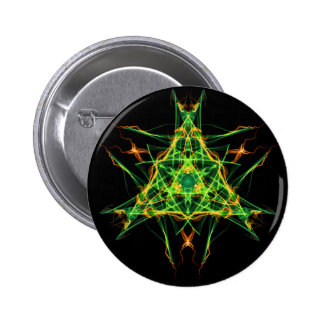 Abstract Pentacle Symbol for Earthen Connection 2 Inch Round Button