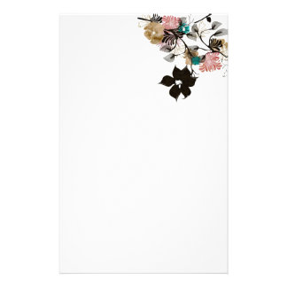 Abstract peonies Stationery