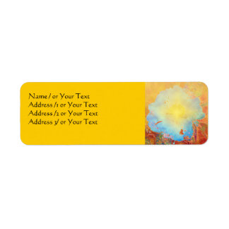 Abstract Peony Label