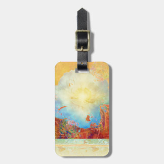 Abstract Peony Luggage Tag