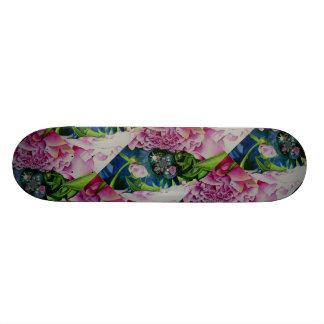 Abstract Peony Mandala Skateboard Deck